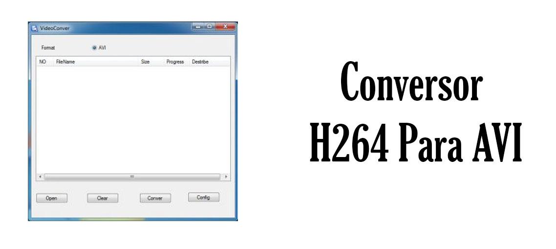 Converter H264 para AVI