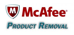 mcafee product removal
