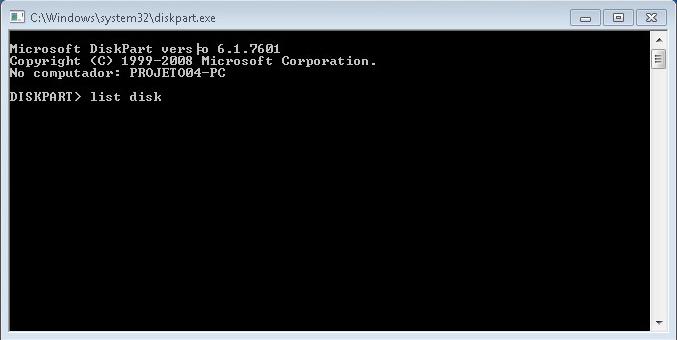 pendrive bootável sem programas