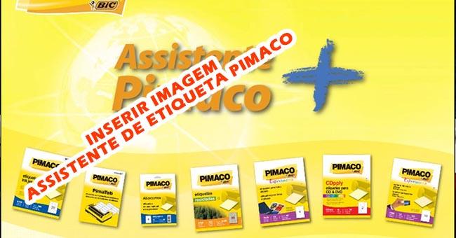 Inserir imagem etiqueta Pimaco