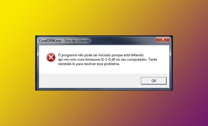 O programa não pode ser iniciado porque está faltando api-ms-win-core-timezone-l1-1-0.dll no seu computador