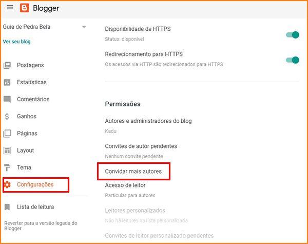 1 - Convidando autores Blogger
